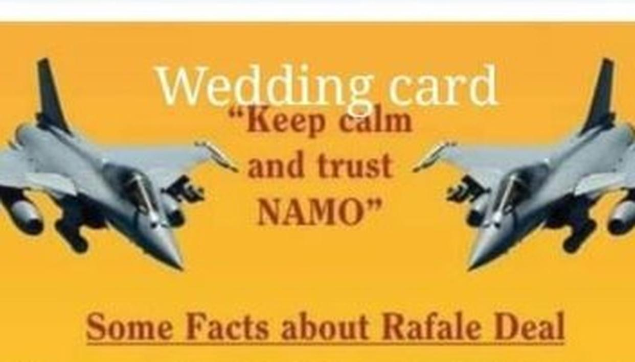 DON'T MISS: NOW, A 'RAFALE FACT-SHEET' MARRIAGE CARD