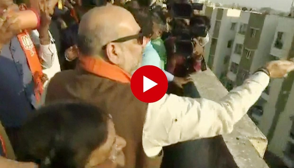 WATCH: BJP CHIEF AMIT SHAH'S KITE-FLYING SKILLS ON DISPLAY AS HE CELEBRATES MAKAR SANKRANTI