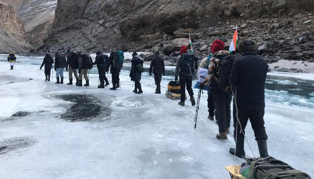 BREATHTAKING: IAF TEAM'S FROZEN RIVER EXPEDITION