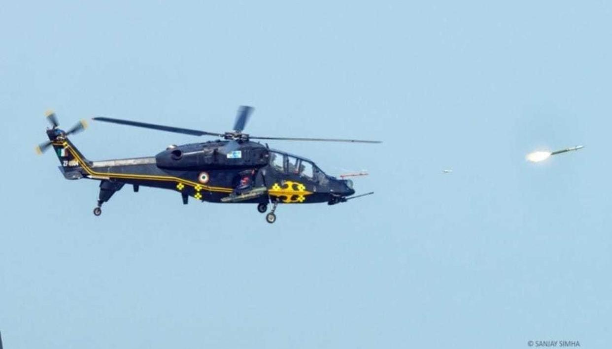 HAL-BUILT LIGHT COMBAT HELICOPTER SUCCESSFULLY COMPLETES AIR-TO-AIR WEAPON TRIALS