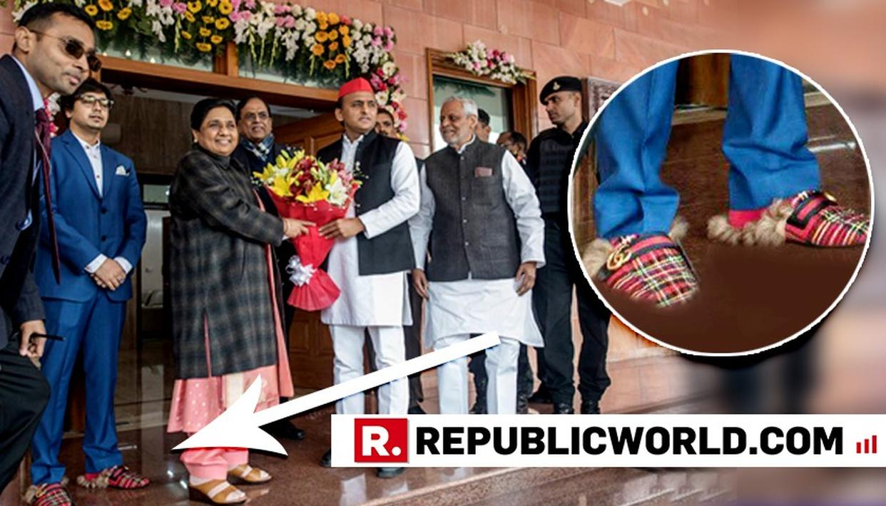 THE SHOE THAT STOLE THE SPOTLIGHT: MAYAWATI IS FURIOUS ABOUT HER NEPHEW'S GUCCI SHOES BEING BROUGHT TO CENTER STAGE