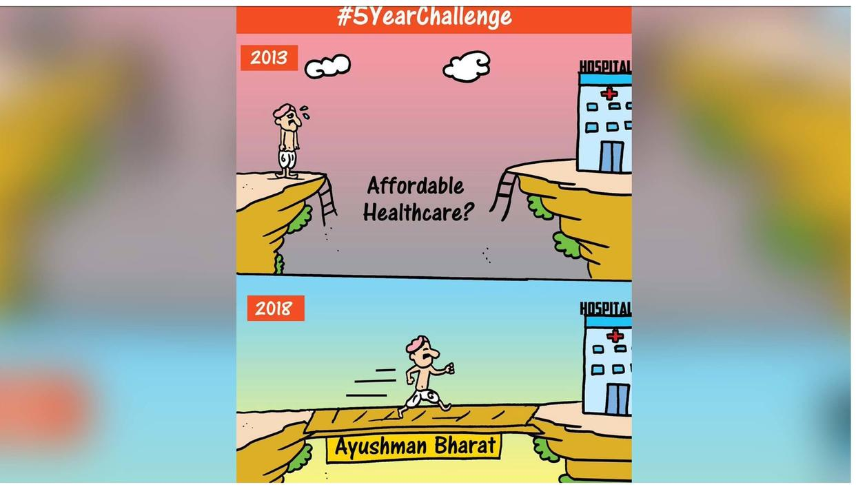 BJP'S #5YearChallenge IS WINNING NETIZENS