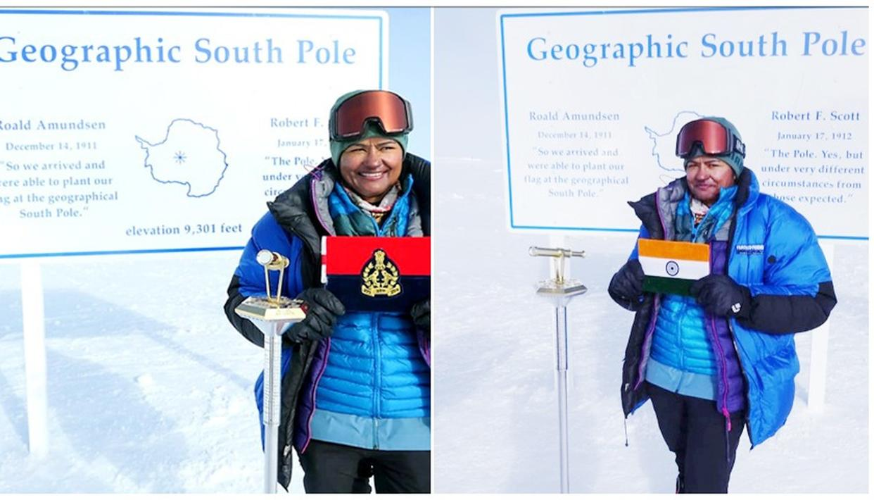 APARNA KUMAR BECOMES FIRST WOMAN IPS OFFICER REACH SOUTH POLE