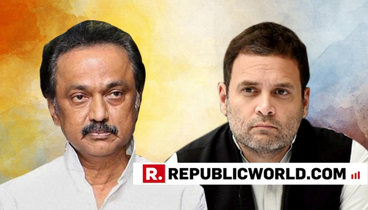 """WATCH:  """"WE DID NOT PROPOSE RAHUL GANDHI AS THE PM CANDIDATE, WE HAD JUST REFLECTED THE MINDSET OF TAMIL NADU PEOPLE,"""" SAYS MK STALIN TAKING A U-TURN FROM HIS PREVIOUS STAND"""
