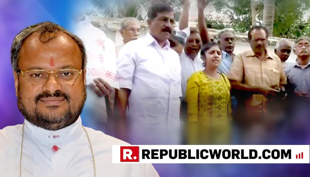 KERALA NUN RAPE CASE: PROTEST BREAKS OUT AGAINST BISHOP FRANCO FOR THREATENING A CRACKDOWN ON NUNS SPEAKING AGAINST THE CHURCH