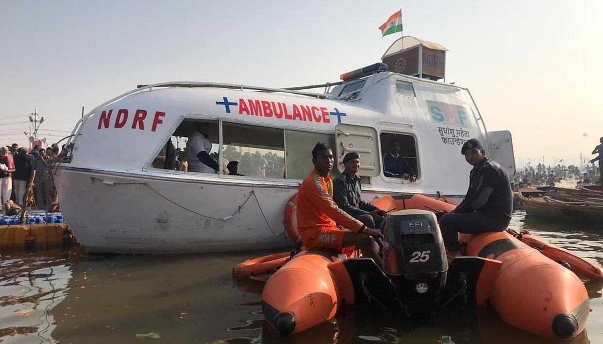 WATER AMBULANCES FOR KUMBH PILGRIMS