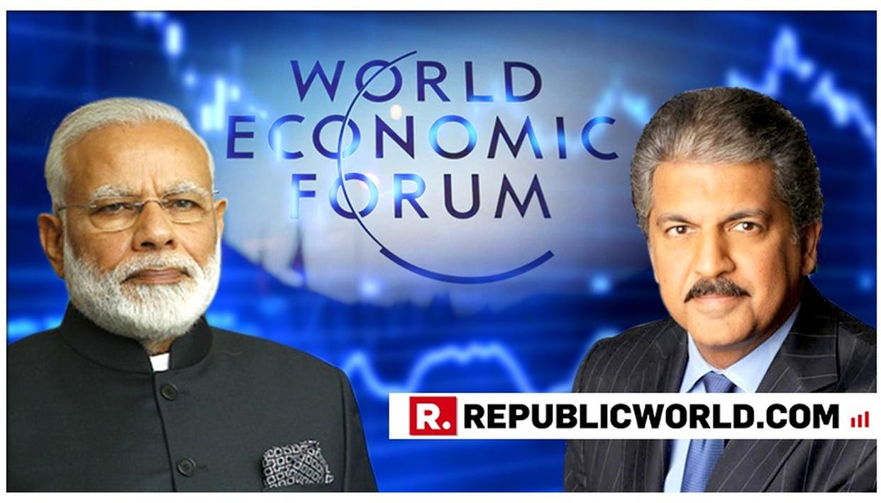 MAHINDRA WELCOMES 'LARGER-THAN-LIFE' POSTER OF PM AT WEF