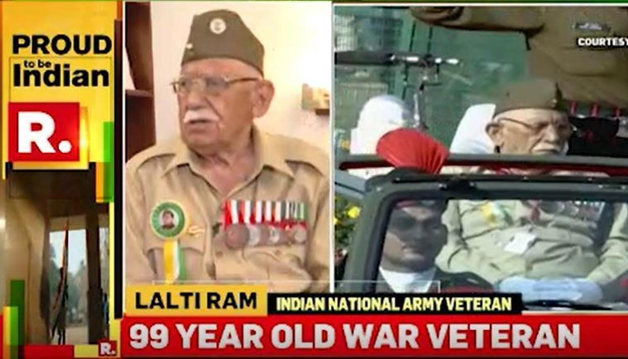 WATCH: ON THE DAY THAT VETERANS OF THE INA TOOK PART IN THE REPUBLIC DAY PARADE FOR THE FIRST TIME, 99-YEAR-OLD HERO LALTA RAM JI SHARES ANECDOTES OF NETAJI BOSE