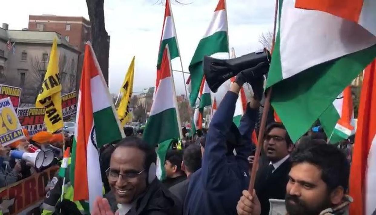 WATCH: PATRIOTS SMASH PRO-KHALISTANI SEPARATISTS IN US