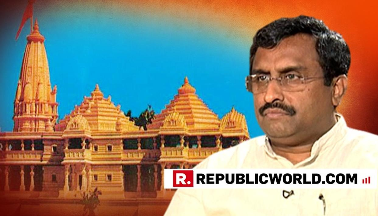 RAM MADHAV HAILS CENTRE'S MOVE FOR THE RELEASE OF UNDISPUTED LAND IN AYODHYA