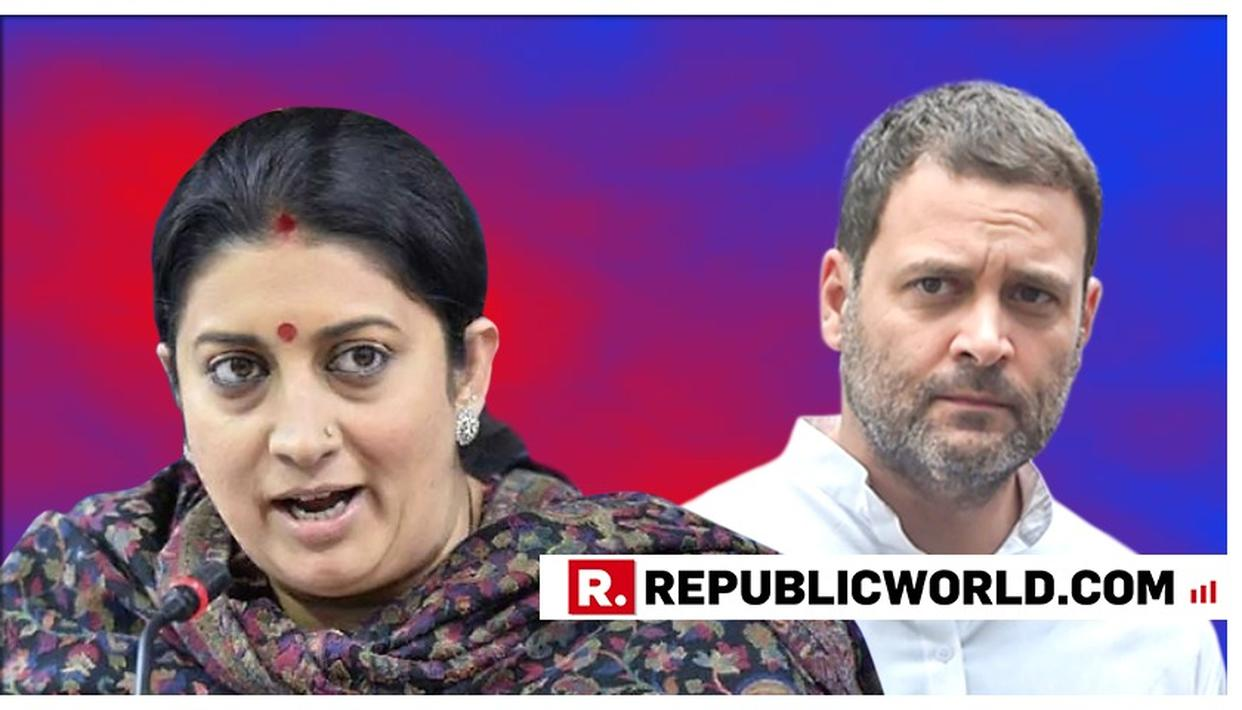 """DOES HE HAVE A MINDSET OF A COLLEGE-LEVEL ELECTION CONTESTANT OR IS HE A CONGENITAL LIAR?"", ASKS SMRITI IRANI ABOUT RAHUL GANDHI IN A SCATHING ANALYSIS"