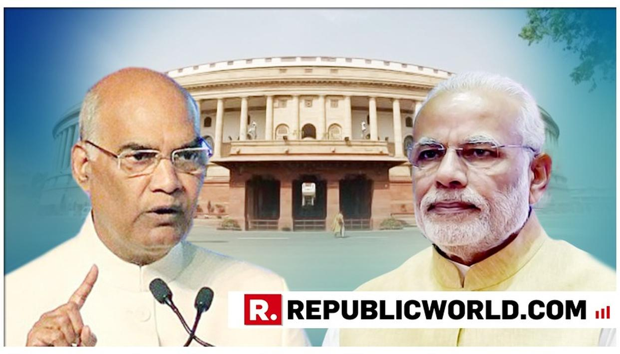MODI GOVT WORKING FOR 'NEW INDIA'; HAS INFUSED HOPE IN PEOPLE: PREZ