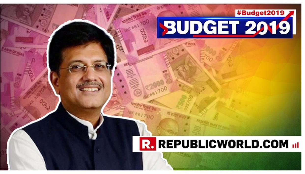 'INDIVIDUAL TAX PAYERS HAVING TAXABLE INCOME UP TO RS 5 LAKHS WILL GET FULL TAX REBATE', PROPOSES PIYUSH GOYAL IN BUDGET 2019