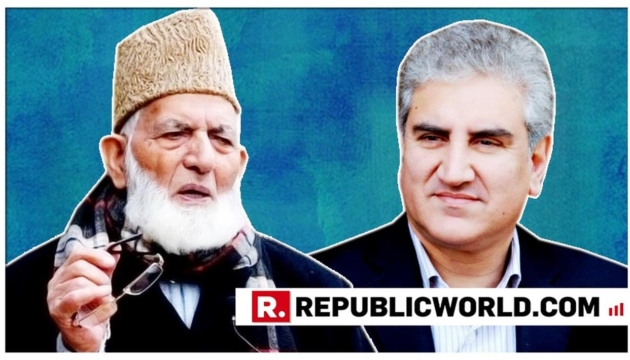 FOREIGN MINISTER SHAH MEHMOOD QURESHI HAS PHONE CALL WITH HURRIYAT LEADER SYED ALI SHAH GEELANI