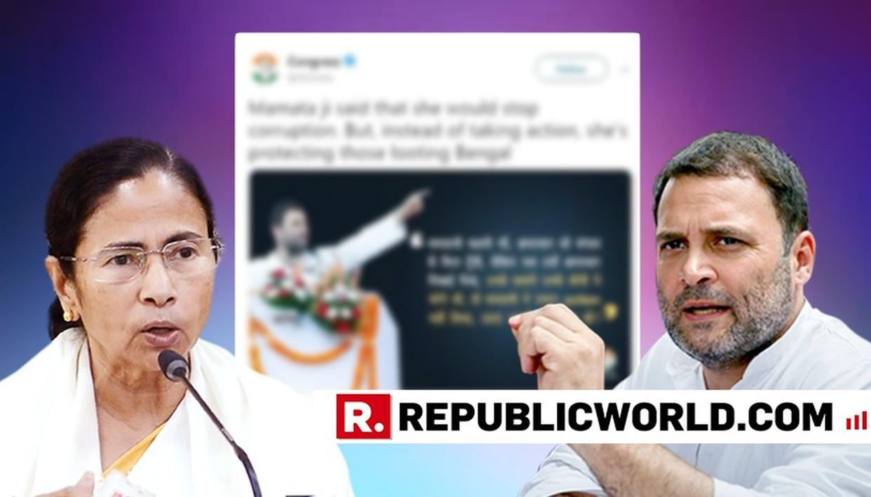 "'PAST TWEETS ON MAMATA BANERJEE COME BACK TO HAUNT RAHUL GANDHI, ""SHE'S PROTECTING THOSE LOOTING BENGAL"" BECOMES ""WE STAND SHOULDER TO SHOULDER"""