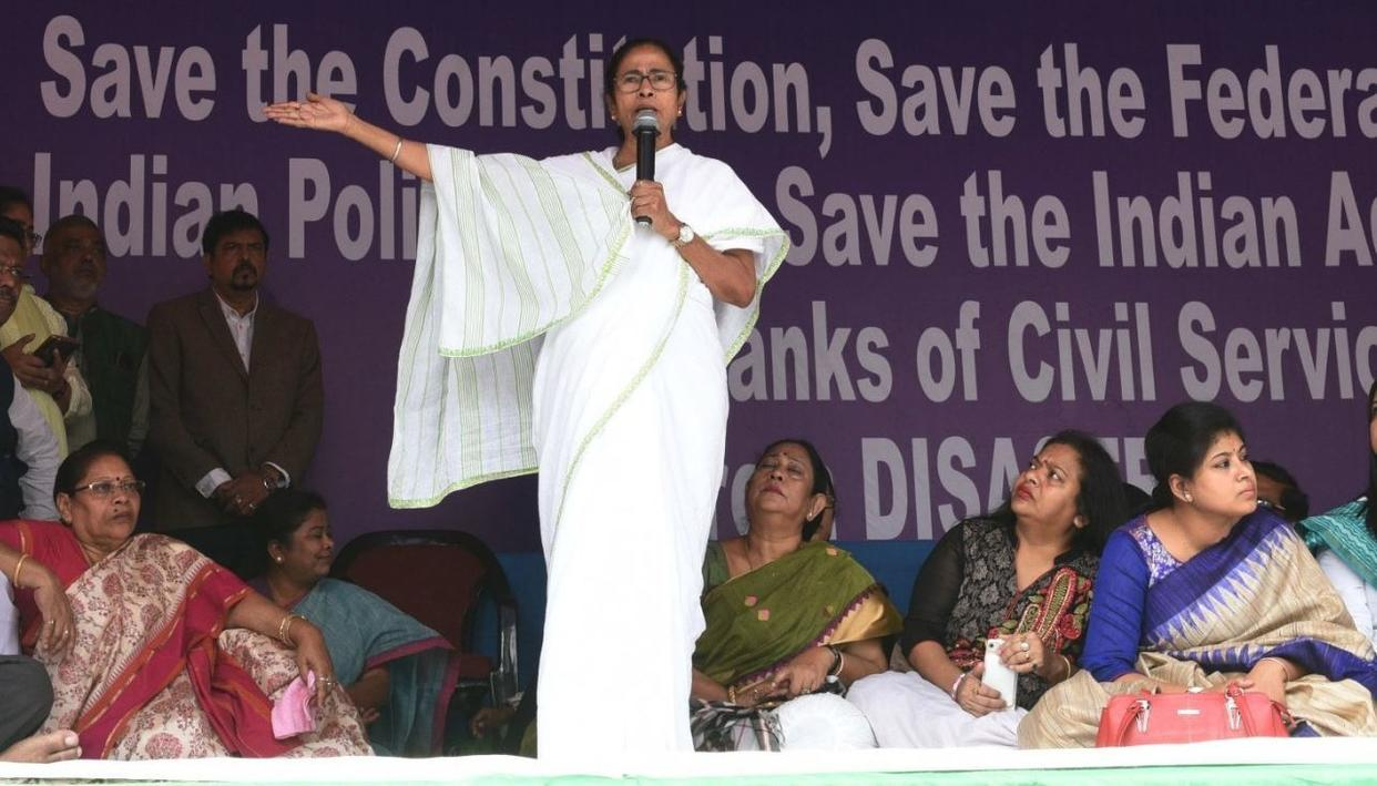 """VICTORY OF CONSITUTION & DEMOCRACY"", SAYS MAMATA BANERJEE AS SHE CALLS OFF 3-DAY DHARNA"