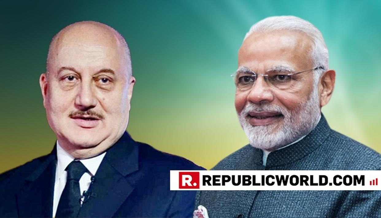 VETERAN ACTOR ANUPAM KHER HAILS PM MODI OVER GOVERNMENT'S EFFORTS TO BRING FRAUDSTERS BACK TO INDIA