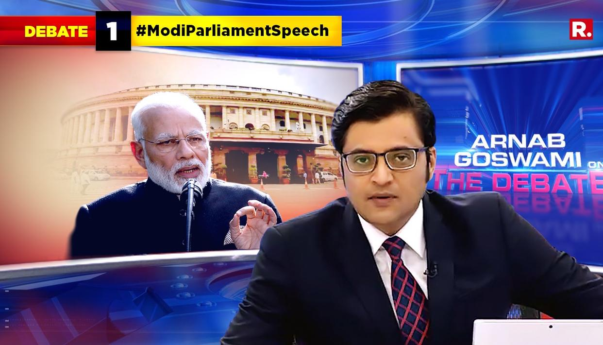WATCH: HERE'S ARNAB'S TAKE ON PM MODI'S UNSPARING ATTACK ON CONGRESS IN HIS PARLIAMENT SPEECH