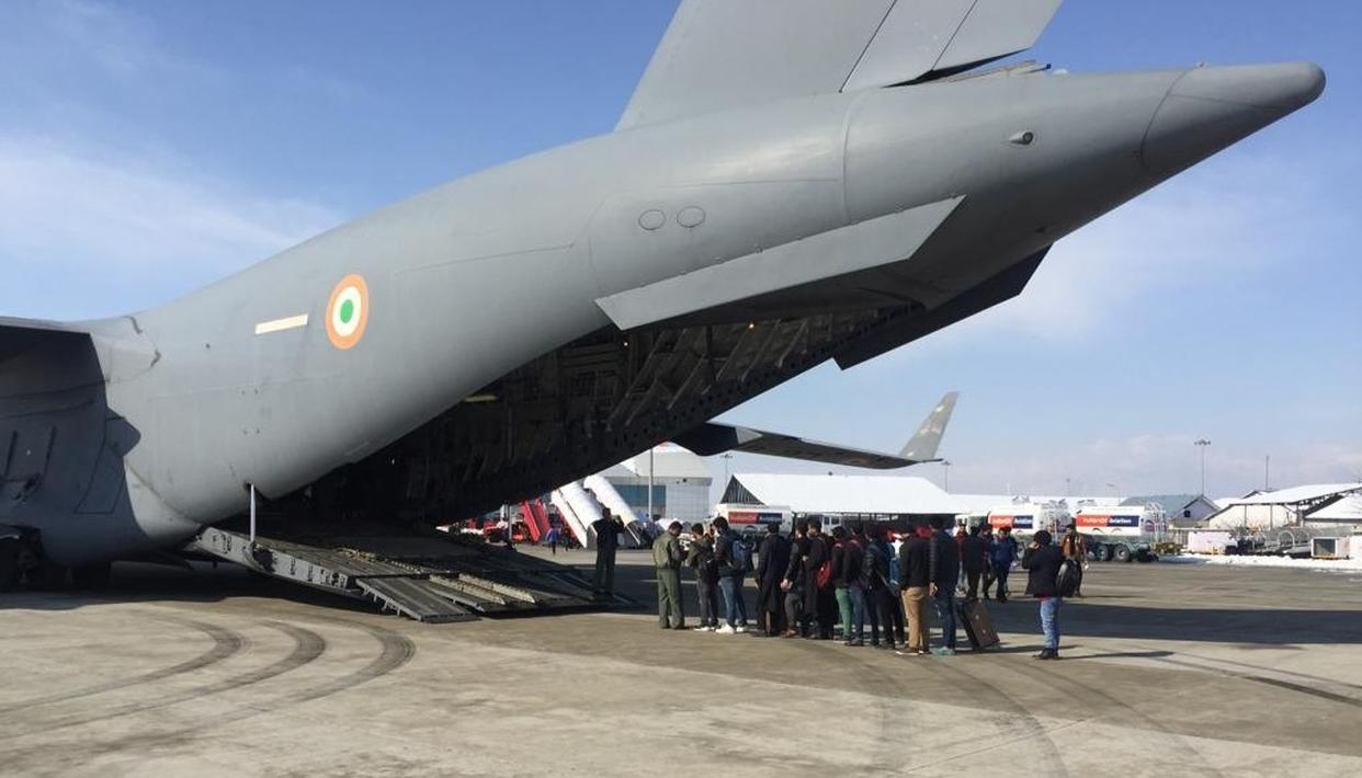 OVER 300 STUDENTS AMONG 538 AIRLIFTED BY AIR FORCE IN JAMMU AND KASHMIR