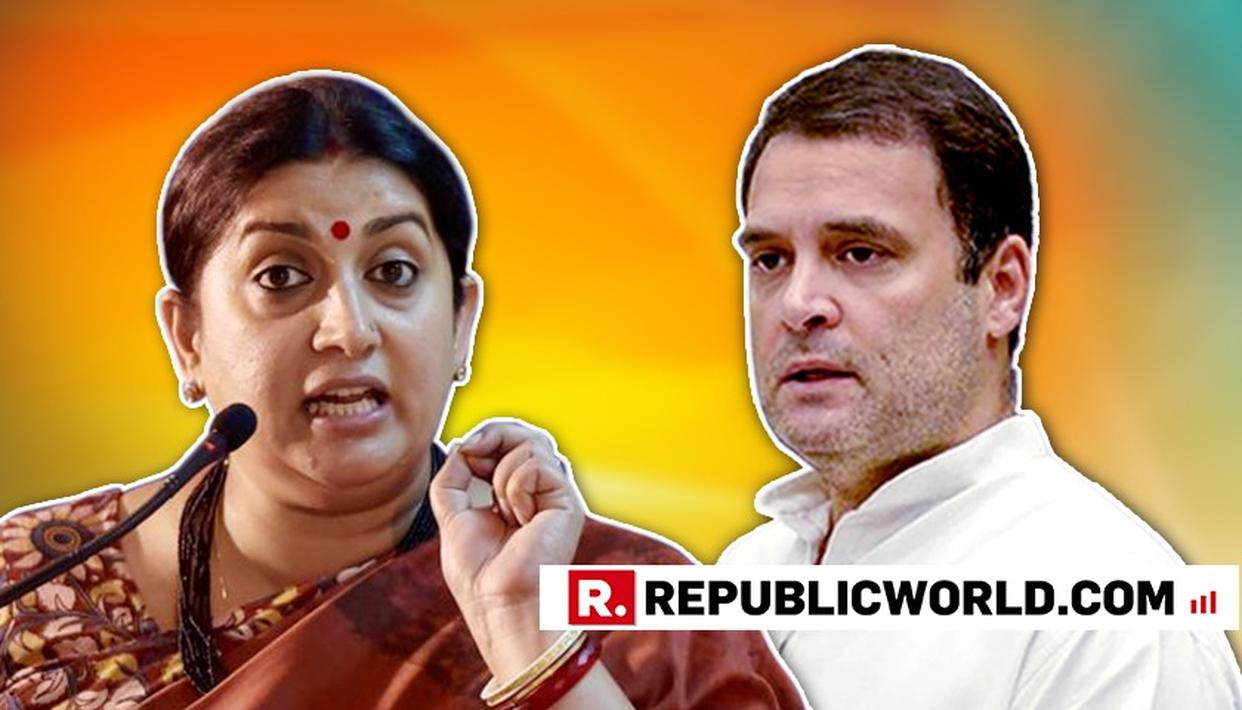 LEAVE ASIDE POLITICS; TAKE HUMANITARIAN ANGLE, IT INDICATES HIS MINDSET: UNION MINISTER SMRITI IRANI HARD-HITTING ATTACK ON RAHUL