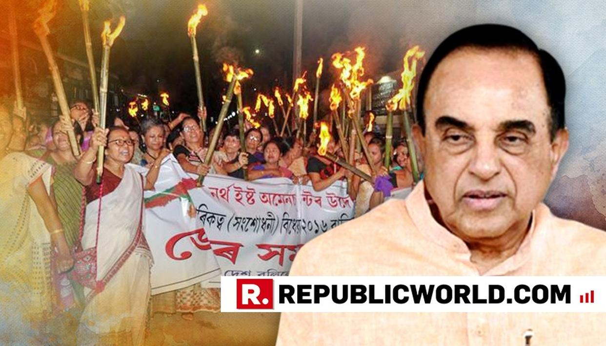 """COMMITTED TO CITIZENSHIP BILL"" SAYS SUBRAMANIAN SWAMY"