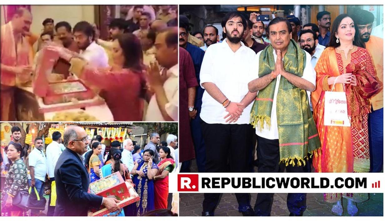 WATCH | MUKESH AMBANI-NITA AMBANI PRESENT SON AKASH AMBANI'S WEDDING CARD AT SIDDHIVINAYAK TEMPLE IN MUMBAI