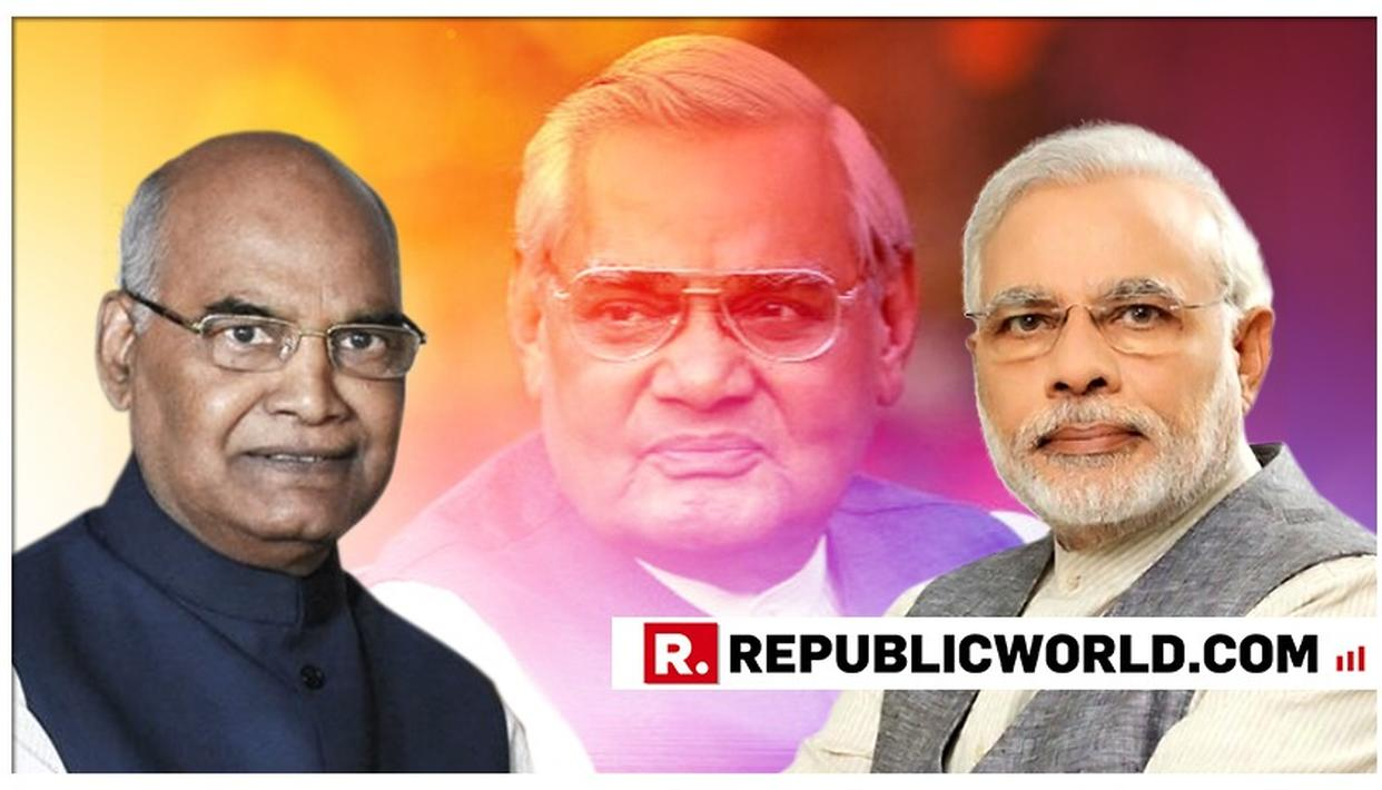 PRESIDENT KOVIND TO UNVEIL FORMER PMATALBIHARIVAJPAYEE'S LIFE-SIZE PORTRAIT IN PARLIAMENT'S CENTRAL HALL