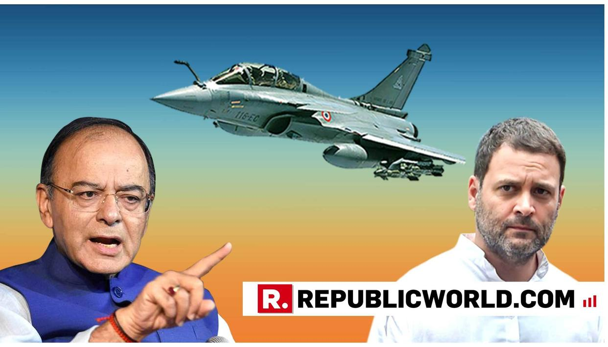 ARUN JAITLEY RIPS APART CONGRESS' 'CONFLICT OF INTEREST' THEORY CONCERNING CAG RAJIV MEHRISHI