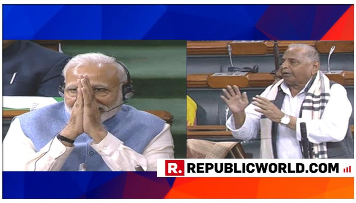 HERE'S PM NARENDRA MODI'S REPLY TO MULAYAM SINGH'S 'NAMO FOR PM AGAIN' SURPRISE IN THE LOK SABHA