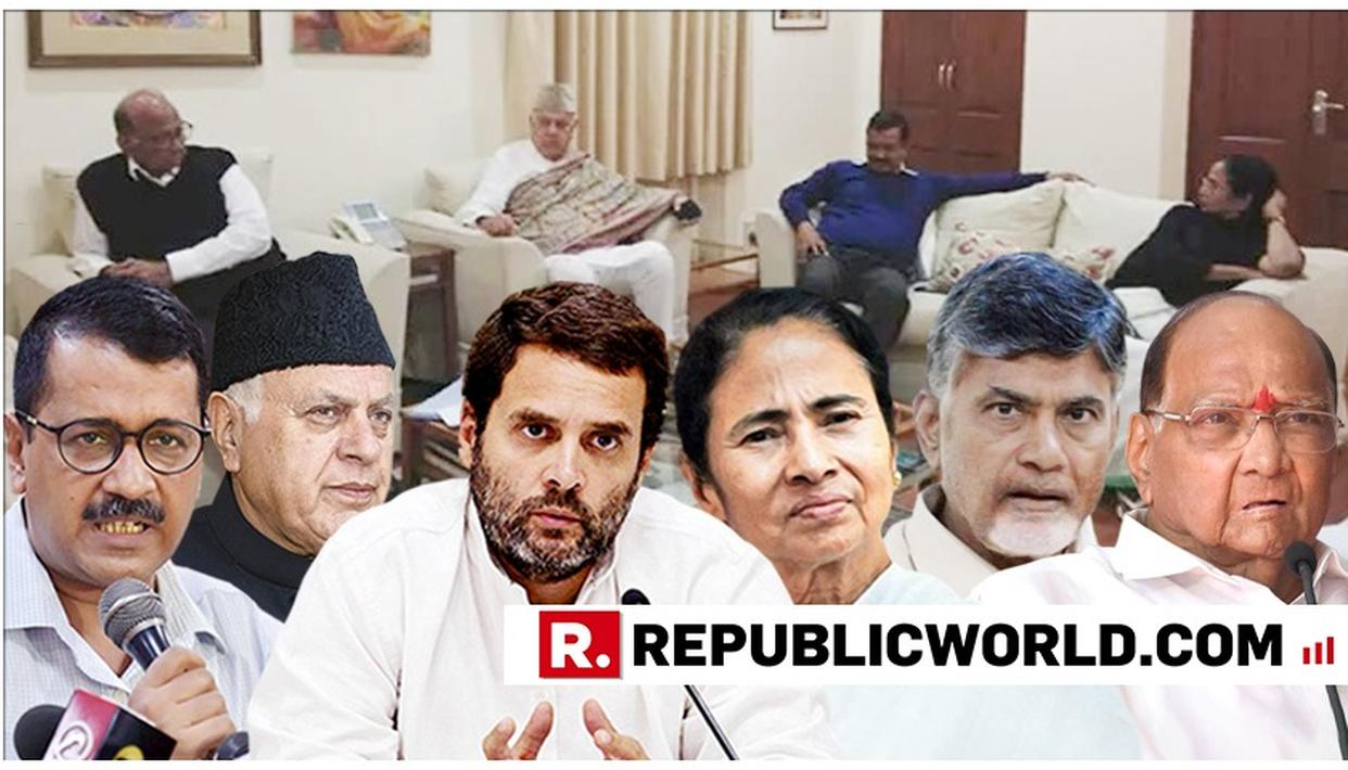 HUGE: RAHUL, MAMATA, NAIDU, ABDULLAH, PAWAR, KEJRIWAL ANNOUNCE NATIONAL PRE-POLL ALLIANCE AGAINST BJP