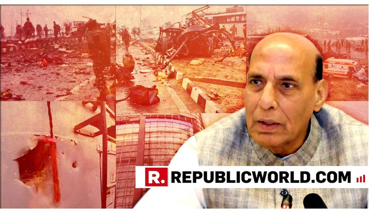 """WATCH: """"A STRONG REPLY WILL BE GIVEN"""", UNION MINISTER RAJNATH SINGH ASSURES THE NATION AFTER PAKISTAN-BACKED JAISH PERPETRATES ATTACKS CRPF"""