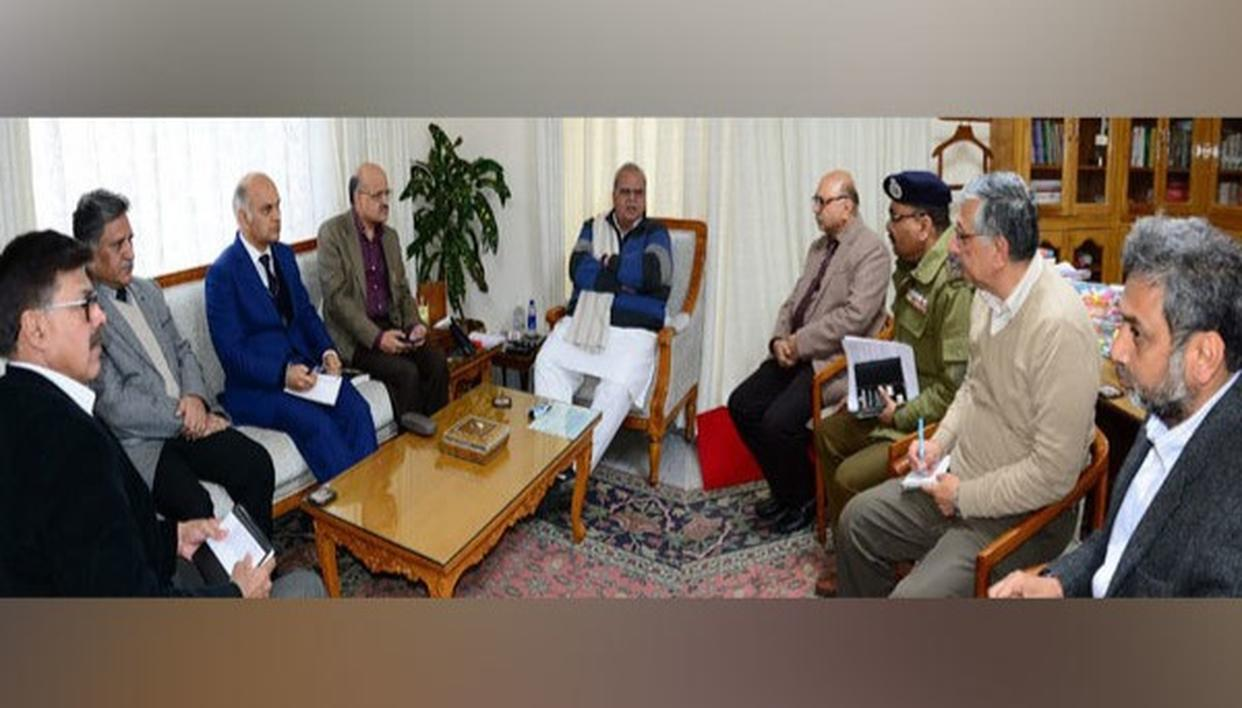 J-K GOVERNOR REVIEWS LAW AND ORDER SITUATION, APPEALS FOR PEACE, FRATERNITY