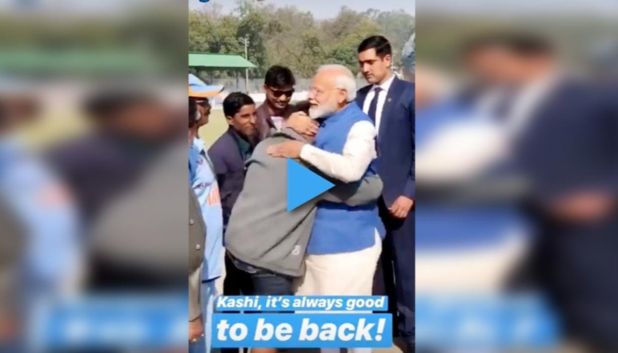 WATCH | PM NARENDRA MODI HUGS DIVYANG YOUTH AFTER HIS INSPIRATIONAL MESSAGE ABOUT ACHIEVING SUCCESS
