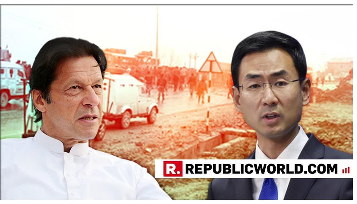 CHINA URGES RESTRAINT BY INDIA, PAKISTAN ON PULWAMA TERROR ATTACK