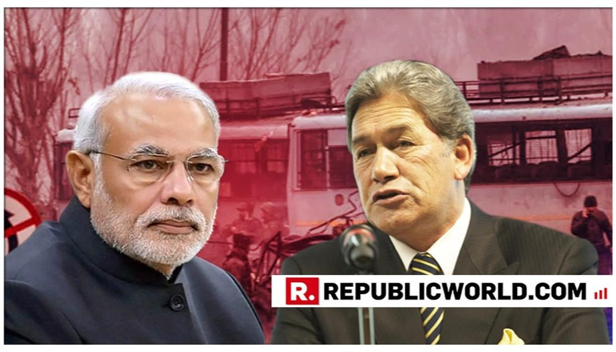 NEW ZEALAND PARLIAMENT UNANIMOUSLY PASSES MOTION CONDEMNING PULWAMA TERROR ATTACK; DY PM WINSTON PETERS EXPRESSES SOLIDARITY WITH INDIA