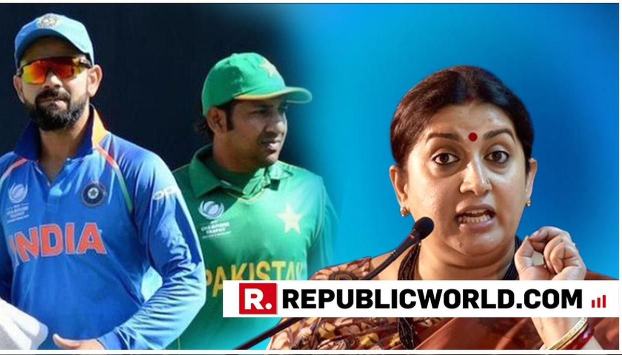 WATCH: SMRITI IRANI DISMISSES POSSIBILITY OF CRICKET BETWEEN INDIA AND PAKISTAN IN THE AFTERMATH OF PULWAMA TERROR ATTACK