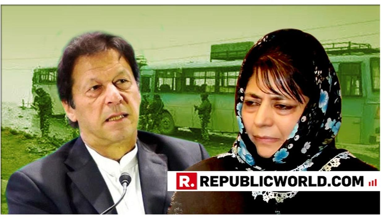 SHOCKING: MEHBOOBA MUFTI ONCE AGAIN URGES IMRAN KHAN'S 'NAYA PAKISTAN' TO BE GIVEN A CHANCE