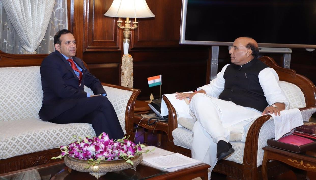 PULWAMA ATTACK: INDIAN HIGH COMMISSIONER TO PAKISTAN MEETS RAJNATH SINGH
