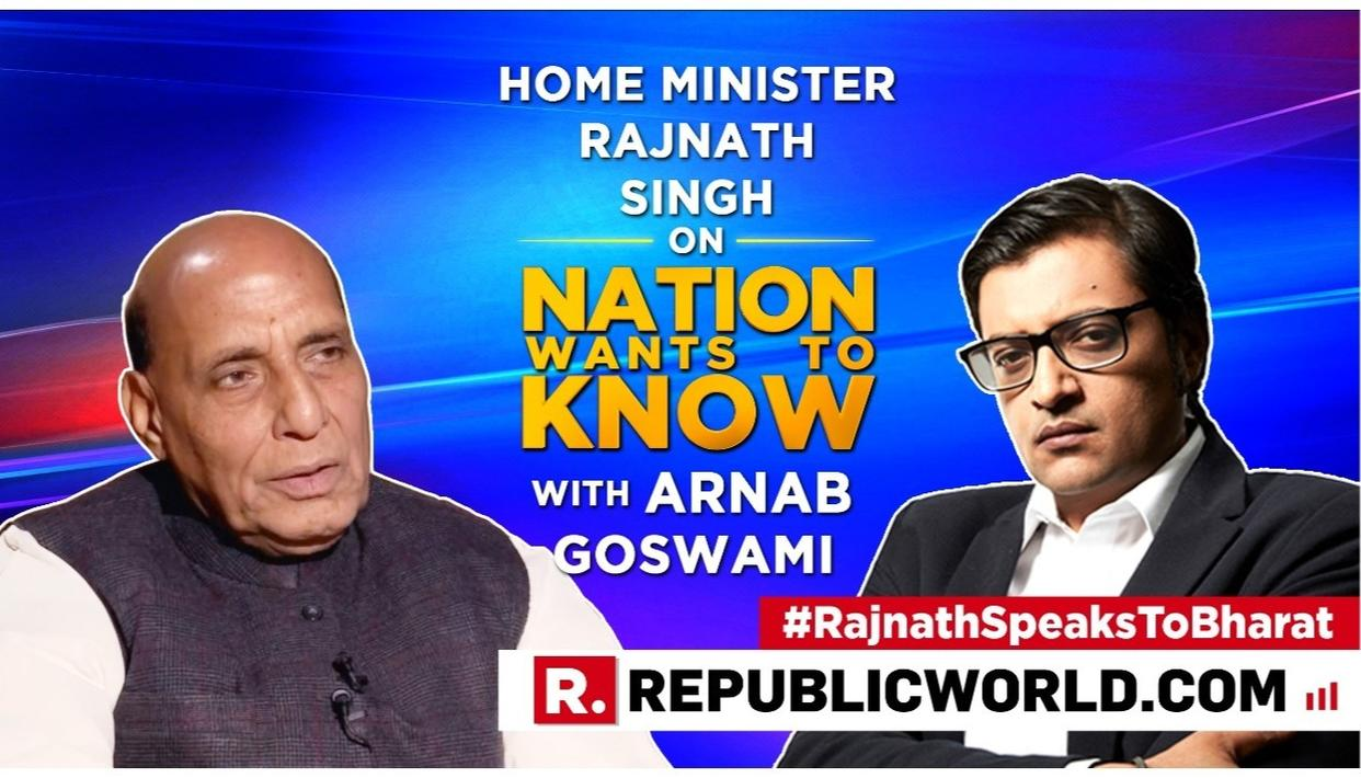 """""""WE WILL TAKE ALL REQUIRED STEPS AGAINST PAKISTAN,"""" SAYS HOME MINISTER RAJNATH SINGH IN HIS FIRST INTERVIEW AFTER THE PULWAMA TERRORIST ATTACK"""
