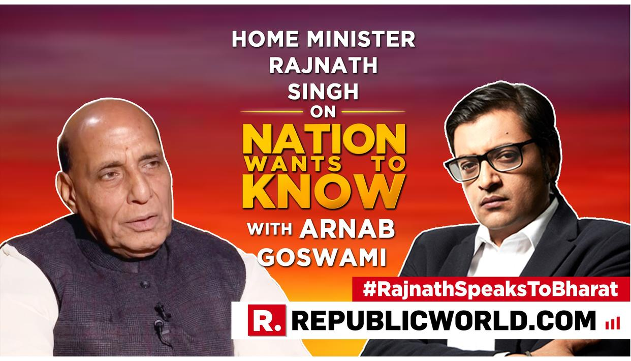 """HOME MINISTER RAJNATH SINGH TAKES ON MEHBOOBA MUFTI FOR """"ILLITERATE"""" REMARK AT PULWAMA AVENGERS"""