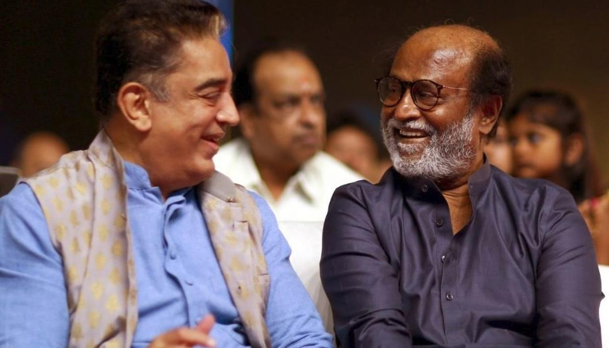 KAMAL HAASAN THANKS RAJINIKANTH FOR BEST WISHES TO MNM AHEAD OF LOK SABHA POLLS