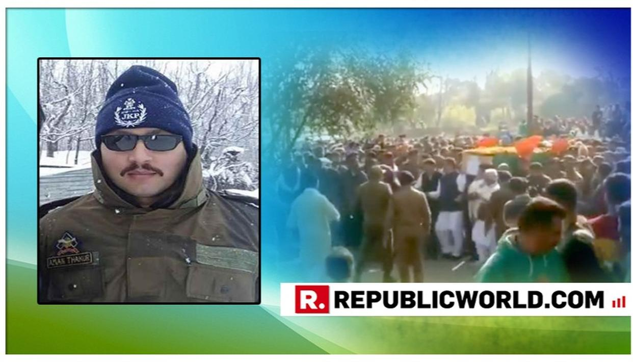 "WATCH | THE LAST SALUTE: LOCALS RAISE SLOGANS OF ""PAKISTAN MURDABAD"" AND ""BHARAT MATA KI JAI"" DURING MARTYR DYSP AMAN THAKUR'S LAST RITES"