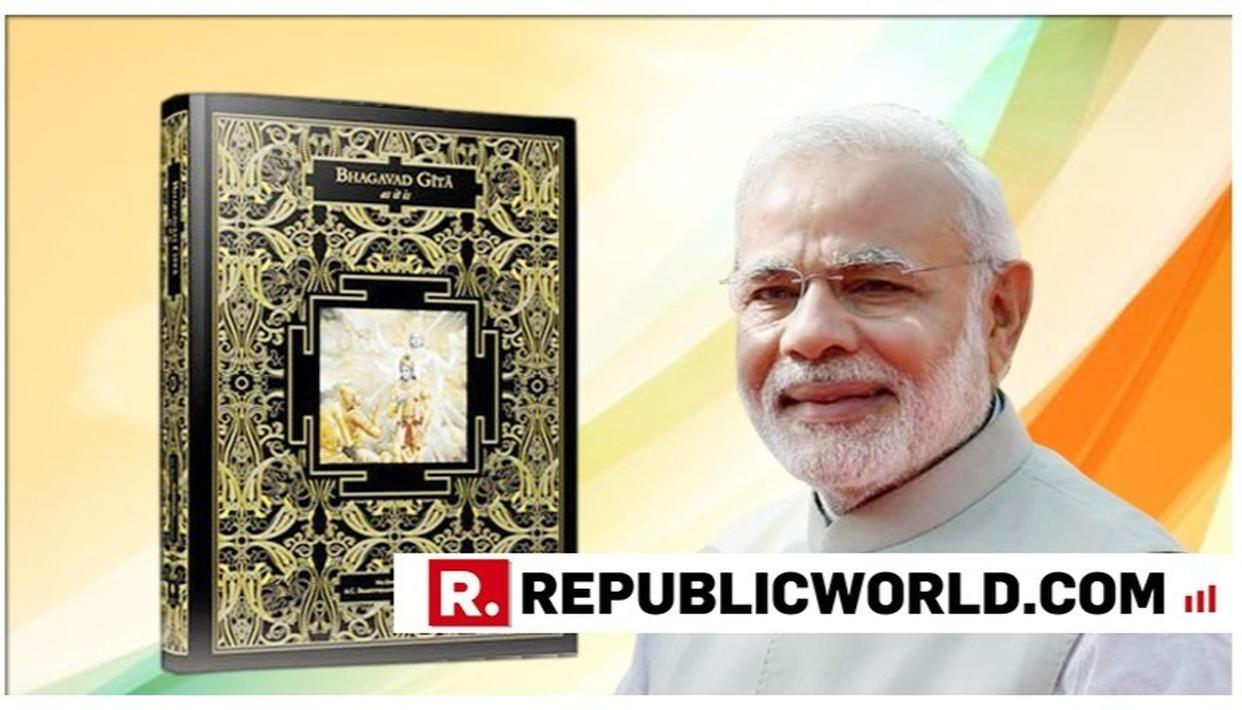 "WATCH: ""THE POWER OF THE LORD IS ALWAYS WITH US TO SAVE THE EARTH FROM THE ENEMIES OF HUMANITY"", SAYS PM MODI AFTER UNVEILING THE WORLD'S LARGEST BHAGAVAD GITA"