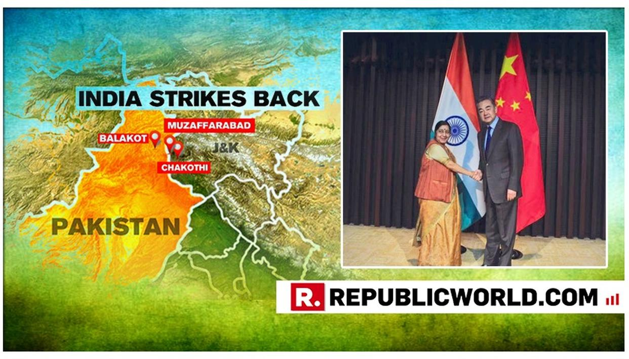 "IN CHINA, SUSHMA SWARAJ EXPOSES PAK-SPONSORED JEM TERROR ROLE IN PULWAMA ATTACK; REITERATES IAF AIR STRIKE ON PAKISTAN ""NOT A MILITARY OPERATION"""