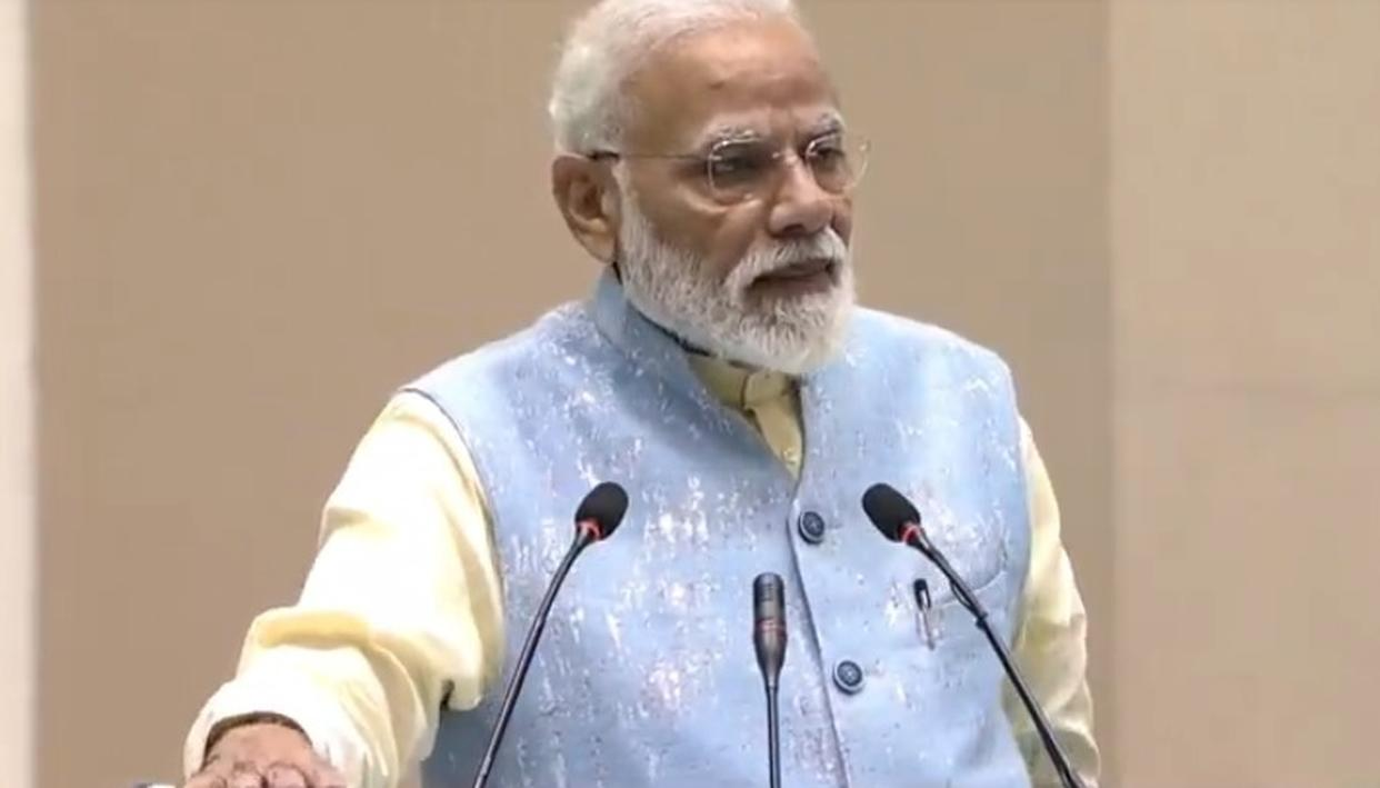 PM NARENDRA MODI ASKS YOUTHS TO QUESTION RAJYA SABHA MPS OVER LACK OF HOUSE PRODUCTIVITY