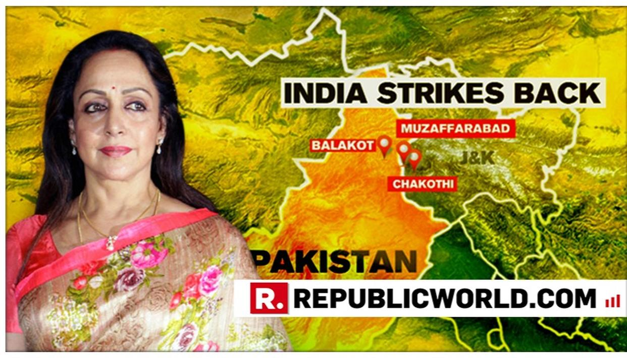 'WHAT A FANTASTIC & BEFITTING REPLY!': HEMA MALINI HAILS INDIAN ARMED FORCES FOR SUCCESSFUL  AIRSTRIKE ON JEM TERRORIST CAMPS