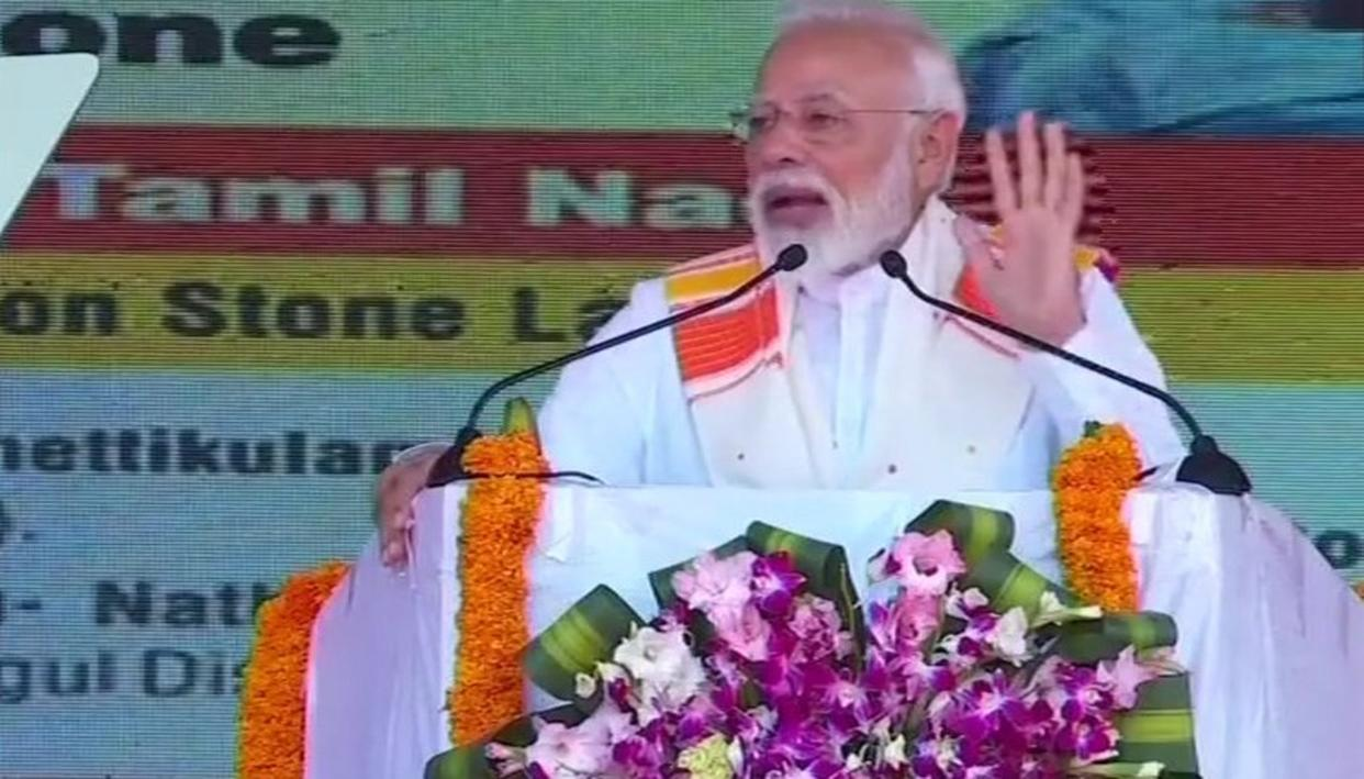 "WATCH: ""INDIANS PROUD THAT BRAVE WING COMMANDER ABHINANDAN BELONGS TO TAMIL NADU"", SAYS PM MODI ADDRESSING A RALLY IN KANYAKUMARI"
