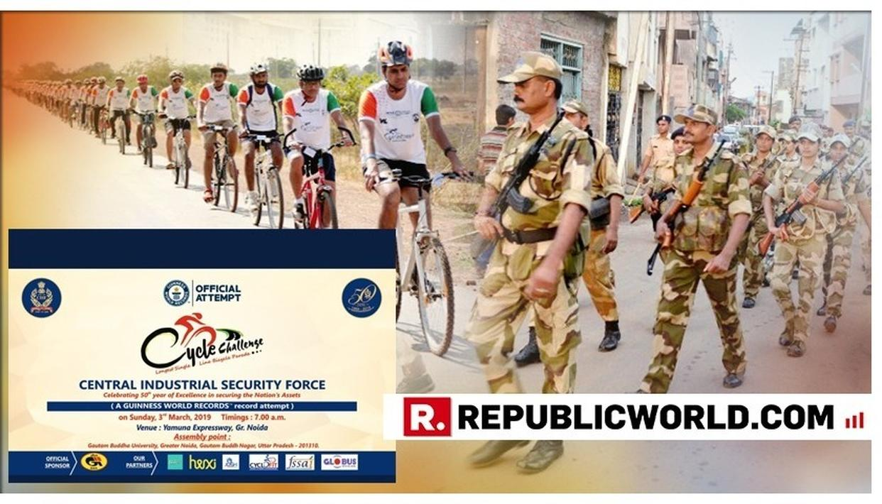 FOR ITS GOLDEN JUBILEE, CISF TO MAKE GUINNESS RECORD SINGLE FILE CYCLE PARADE ATTEMPT. HERE'S HOW LONG THE PARADE NEEDS TO BE