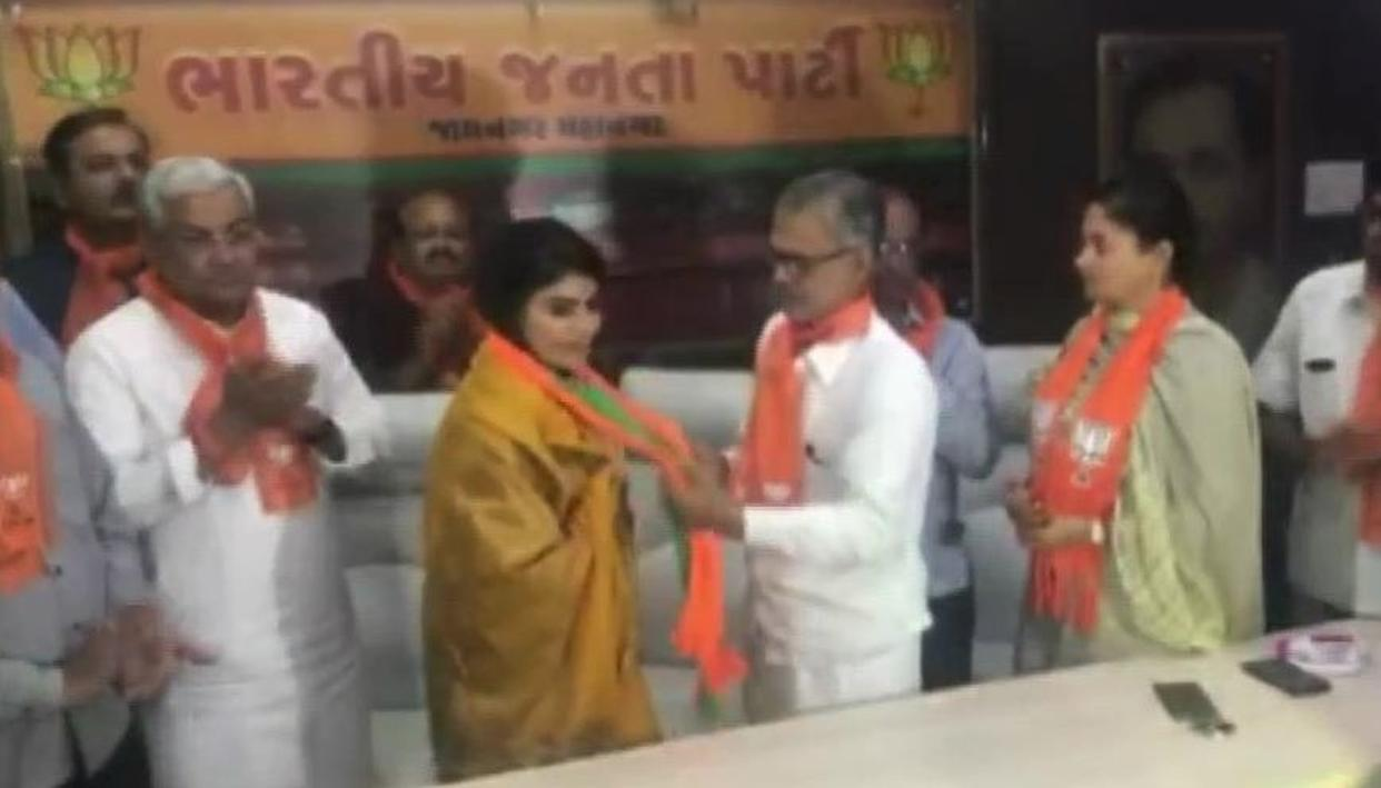 MONTHS AFTER JOINING KARNI SENA, RAVINDRA JADEJA'S WIFE RIVABA JOINS BJP