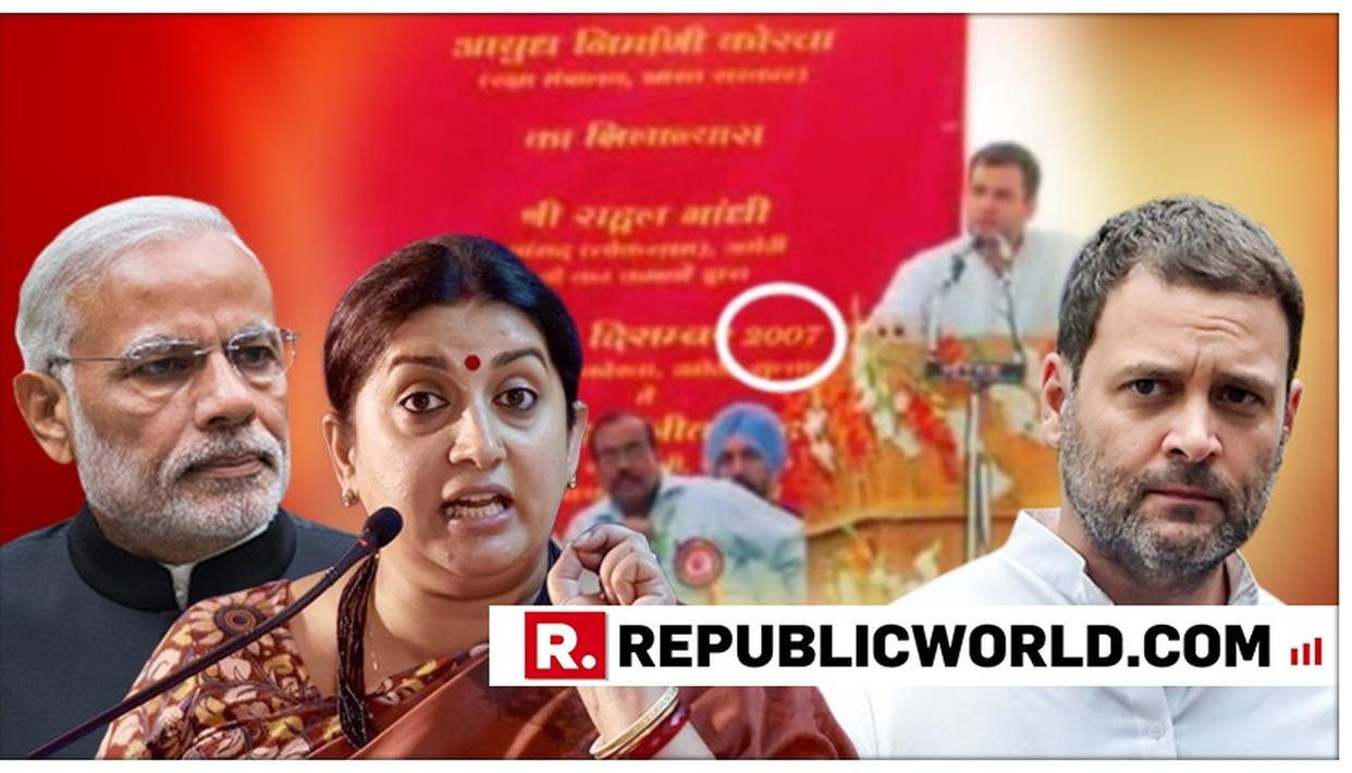 SURGICAL PRECISION: SMRITI IRANI EXPOSES RAHUL GANDHI 'LIE' ON AMETHI ORDNANCE FACTORY; CHIDES HIM, 'MISTAKES HAPPENS...'